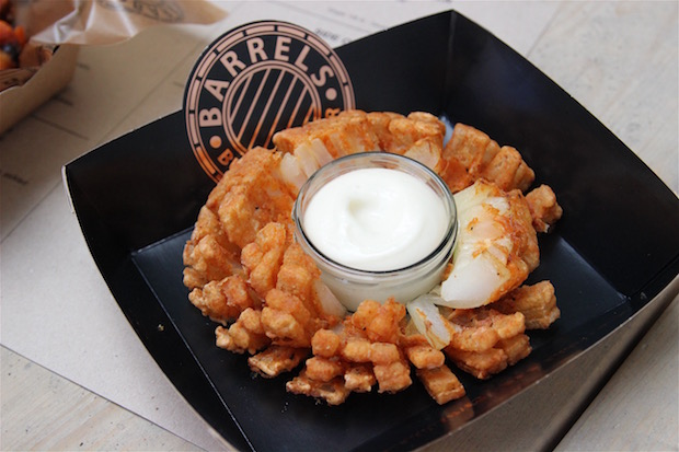 blooming onion barrels
